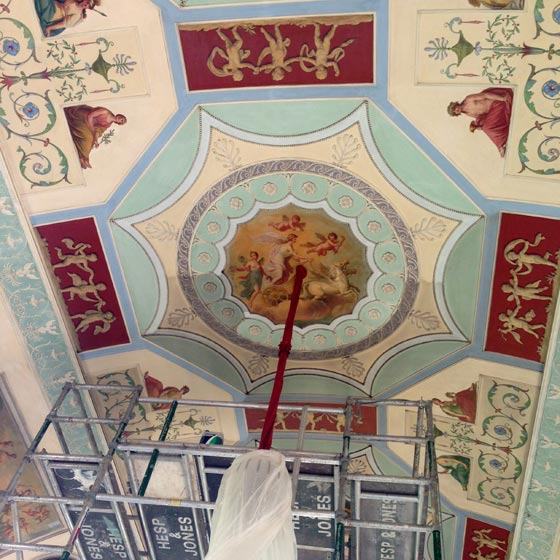 Cleaning-of-James-Wyatt-Ceiling-Private-House